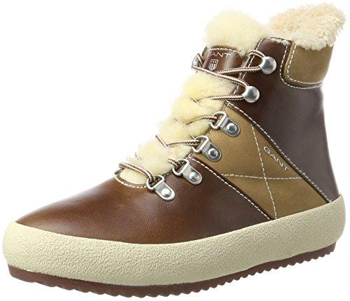 Gant Amy, Zapatillas Altas para Mujer Marrón (Cognac G45)