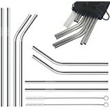 G.S YOZOH Stainless Steel Straws for 30oz 20oz Yeti Cups, Set of 8-Includes 2 Free Cleaning Brushes