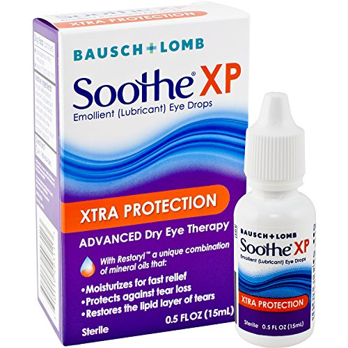 Bausch + Lomb Soothe XP Lubricant Eye Drops, XTRA Protection Formula, 0.5 Ounce/15 ml