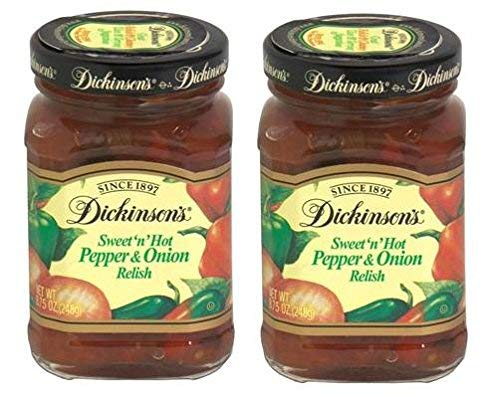 Dickinson's Sweet 'n' Hot Pepper and Onion Relish 8.75 Ounces (2 Pack) from Dickinson's