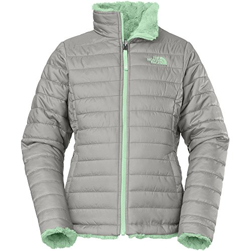 The North Face Reversible Mossbud Swirl Jacket Girls Metallic Silver XS6 by The North Face