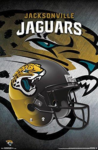 "Trends International Wall Poster Acksonville Jaguars Helmet, 22.375"" x 34"""