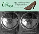 Cybrtrayd S301AB Chocolate Candy Mold, Includes 3D Chocolate Molds Instructions and 2-Mold Kit, Soccer Ball