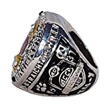 CLEMSON UNIVERSITY TIGERS (Coach Mike Briglin) 2015 ACC NATIONAL CHAMPIONS (45-37 Vs. NC) Rare & Collectible Replica College Football Silver NCAA Championship Ring with Cherrywood Display Box