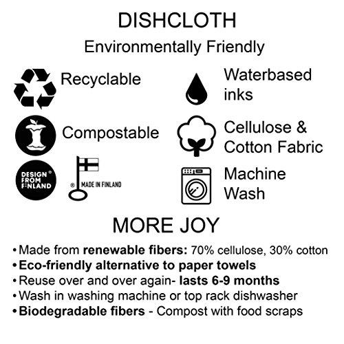 MORE JOY, Swedish Dishcloths, Scandi House, Set of 2, Gray by MORE JOY (Image #1)