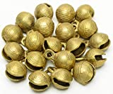 AzKrafts Wholesale Lot 200 Pcs 1.2''Ht Vtg Style Horse Sheep Brass Sleigh Bells Home Décor