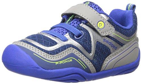 Force Grips (pediped Kids' Grip Force Sneaker,Navy,22 E EU Toddler (6-6.5 US))