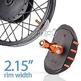 KiWAV motorcycle rim lock alloy rubber nylon for 2.15'' rim orange lock nut