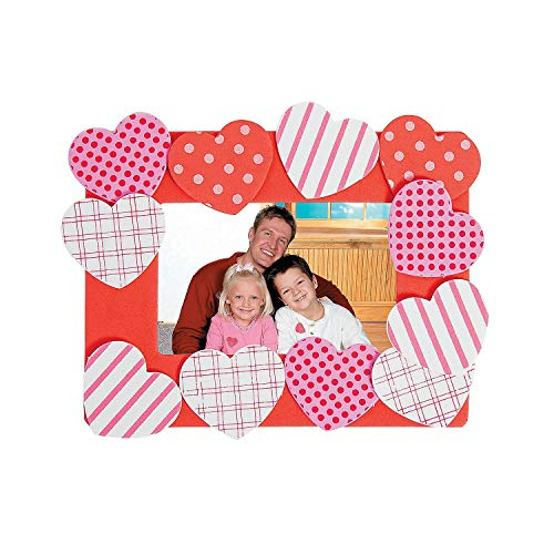 Heart Photo Frame Magnet Craft Kit (Makes 12) ()