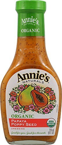 Annie's Naturals Organic Dressing Papaya Poppy Seed, 8-Ounce Bottles (Pack of 6) by Annie's Naturals by ANDALOU NATURALS