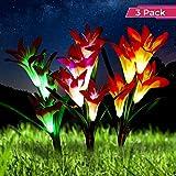 Optimal Home Living Solar Garden Stake Light 3 Pack Lily Light for Outdoor Landscape Lighting |...