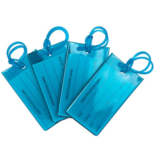 4 Pack TravelMore Luggage Tags For Suitcases, Flexible Silicone Travel ID Identification...