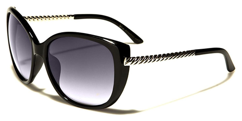 VG Designer ovale mode femme lunettes de soleil - COMPLET UV400 Protection GRATUIT vibrant Hutt microfibre poche inclus - noir/argent/IMPRESSION ANIMAL rpwYLEnWrM