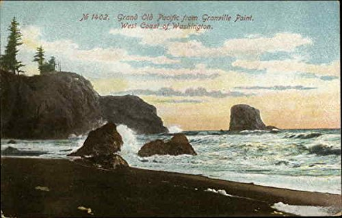 (Grand Old Pacific from Granville Point Granville Point, Washington Original Vintage Postcard)