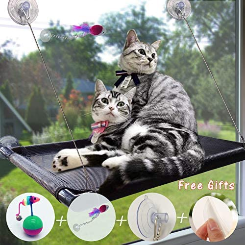 Cat Window Perch,pet Window Perch Hammock cat Window cat Window seat cat Shelves pet Resting seat cat Bed with Upgraded 4 Big Suction Cups for Space Saving Cat Bed Holds Up to 50lbs