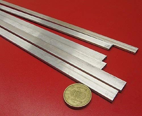 JumpingBolt 6061 T651 Aluminum Bar, 1/8'' (.125'') Thick x 1/2'' Wide x 36'' Length, 6 Units Material May Have Surface Scratches