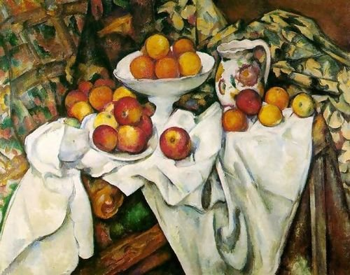 Paul Cezanne Apples And Oranges 26x20 [Kitchen] (9555 Oil)