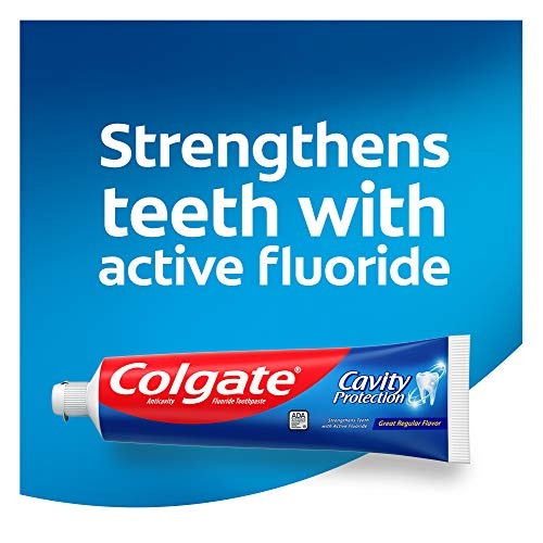 Colgate Cavity Protection Toothpaste with Fluoride -White 6 Ounce (Pack of 6)