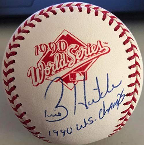 aphed and Inscribed 1990 World Series Baseball ()