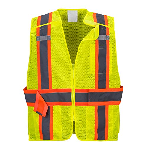 Portwest US385YERS Expandable Mesh Breakaway Safety Vest, Small, Yellow ()