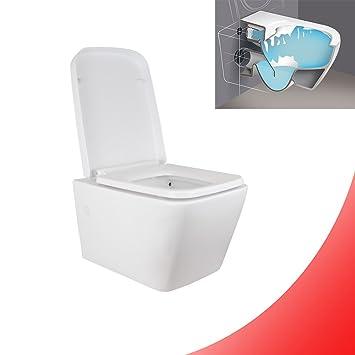 Spulrandloses Hange Wc Eckig Spulrandlose Toilette Softclose