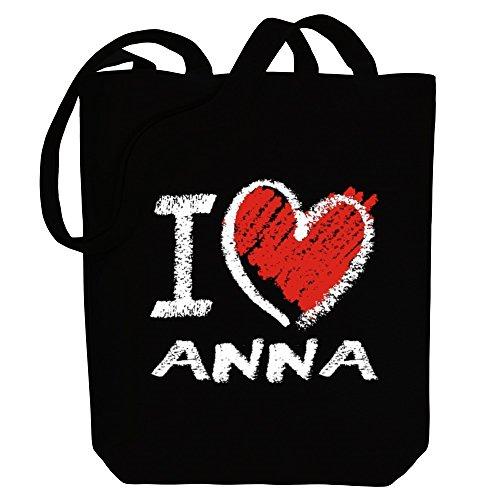 I Female Canvas chalk Names Bag love Idakoos style Anna Tote Pwdfngq