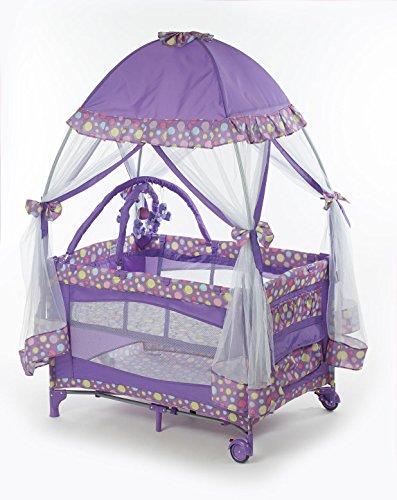 Big Oshi Playard With Mosquito Net & Cary Bag, Purple by Big Oshi