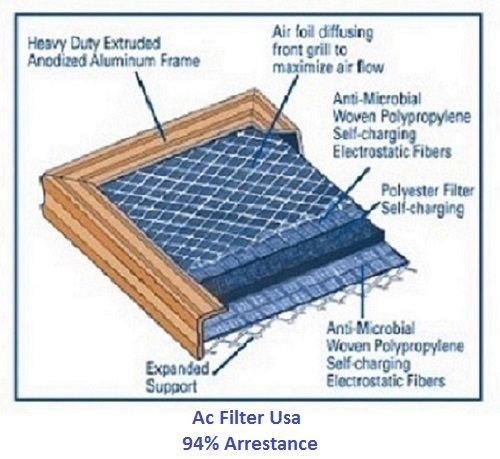 18 x 30 x 1 Electrostatic AC炉エアフィルタゴールド94 % Arrestance。生涯保証。Never新しいフィルタを購入 B00F1QXYD8