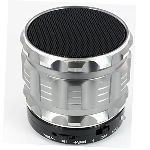 SQdeal(TM) Portable Mini Bluetooth Speakers Metal Steel Wireless Smart Hands Free Speaker Subwoofer with Fm Radio Mp3 Mp4 Player for Iphone Iapd,ipad2,new Ipad,ipad Mini,iphone4/4s/5 Samsung Via Sg Post Support Sd Card Music Played Htc, Sony Ericsson, Nokia and Samsung, Millet, Huawei, Zte, Etc All Kinds of Bluetooth Mobile Phone and Computer Equipment Such As Various Kinds of Bluetooth Wireless Transmission of Audio and Hands-free Calls (Sliver)