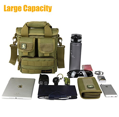 FREE SOLDIER Multifunction Mens Outdoor Tactical Shoulder Messenger Bag Assault Pack Gear Handbag Utility Carry Bag(Muddy)