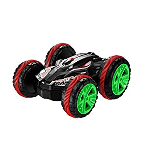 AHAHOO RC Car Boat 4WD 6CH Stunt Car 2.4Ghz Remote Control Land & Water Amphibious Tank Double Sided Off Road Electric Racing Vehicle 360 Degree Spins and Flips