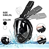 Weiketery Snorkel Mask Foldable - 180° Panoramic View Free Breathing Full Face Snorkeling Mask with Camera Mount, Dry Top Set Anti-fog Anti-leak
