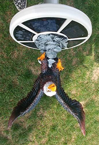 (PolePalUSA Eagle in Flight Flagpole Topper Finial Ball - Hand Painted Realistic Lifelike)