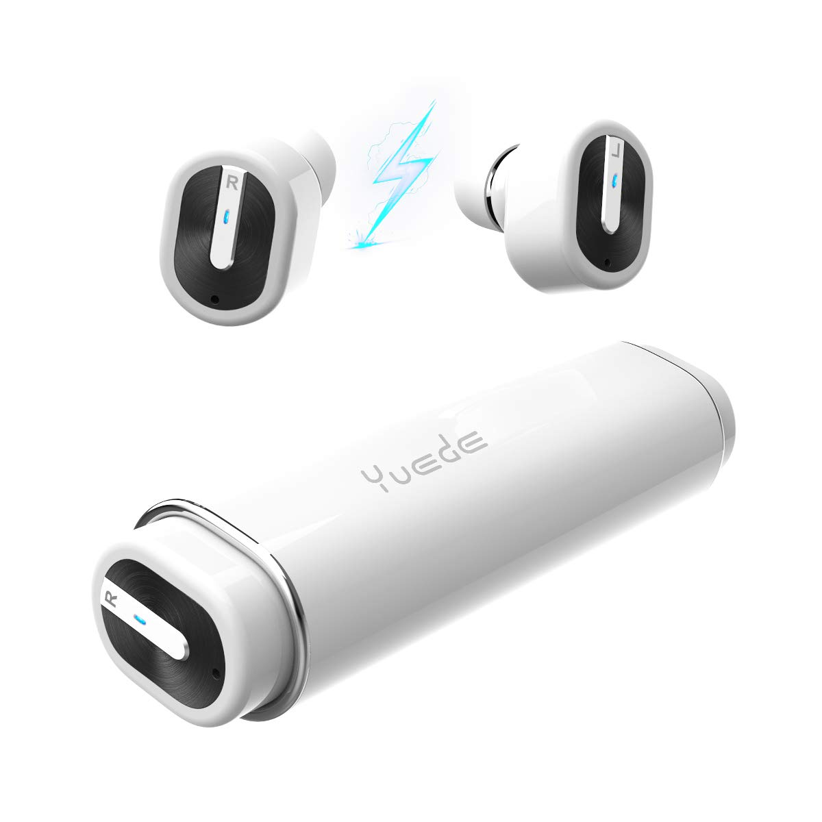 Wireless Bluetooth Earbuds Earphones, CORNMI Sports Earphones Bluetooth 5.0, Sweatproof Wireless Headphones with 440mAh Portable Charging Case for Gym Running Christmas Birthday Gifts-White