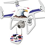 Cheap MightySkins Skin for DJI Phantom 4 Quadcopter Drone – Eagle Head | Protective, Durable, and Unique Vinyl Decal wrap Cover | Easy to Apply, Remove, and Change Styles | Made in The USA