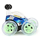GreatFun 1 Pc 360° Spinning And Flips With Color Flash & Music For Kids Remote Control Truck Kid Toy Gift (Blue)