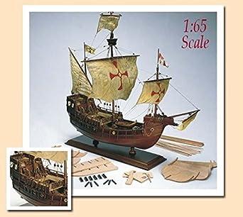 Amazon.com: Amati Santa Maria Tall Ship de madera modelo kit ...
