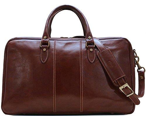 (Floto Venezia Suitcase Duffle Bag (Vecchio Brown))