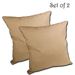 SET of 2 16W x 16D x 5H Spun Polyester Outdoor THROW PILLOW by Comfort Classics Inc.