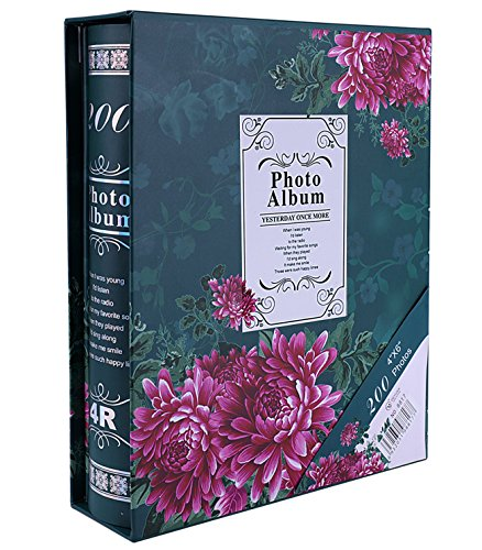 Fashion BB Multi photo album 4x6 with Paper cover 200 Pockets Hold (Large Bb)