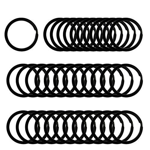 Argollas para llaveros negras de  25mm 48pc