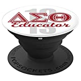Delta Educator Grip Gift for Teachers Professors and Aides - PopSockets Grip and Stand for Phones and Tablets