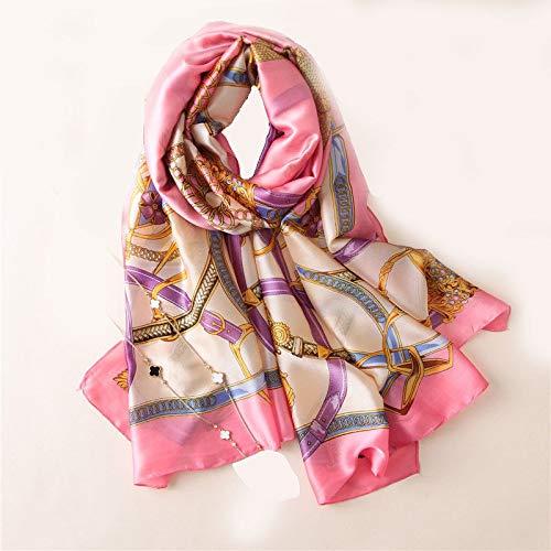 Pink Women's Fahsion Vintage Royal Tassel Printed Oblong Scarf Shawl Hijab 35'' 71''