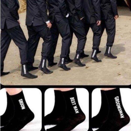 Wedding Party Mens Socks, Personalized Soft Breathable Wedding Socks For Groom Best Man Groomsman (best man)