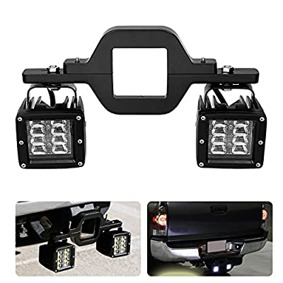 "AKD Part 3"" Tow Hitch Bracket Mounting Kit Universal Tube Clamps for Dual LED Backup Reverse Lights Rear Search LED Pods LED Work Light Off Road Lighting Backup Lamps for Trailer Truck SUV RV"