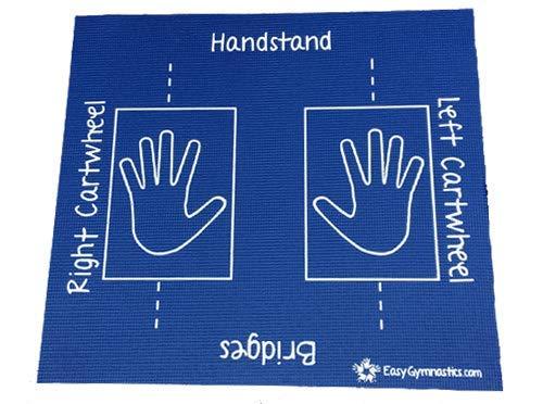 Cartwheel, Handstand, Bridge (Easy Gymnastics Mat) -with 14 Online Instructional Videos (Dark Blue) Learn Gymnastics at Home