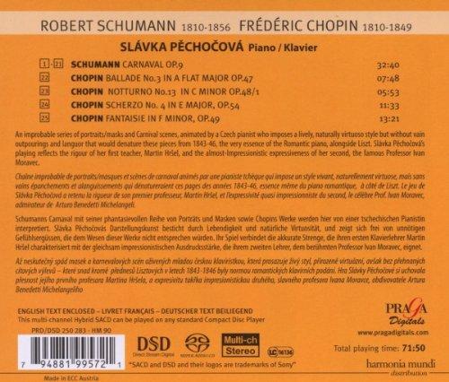 Schumann: Carnaval Op.9; Chopin Ballade No. 3, Nocturne No. 13, Scherzo No. 4, Fantasie in F minor