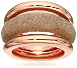 """Pesavento """"Polvere"""" Large Combo Ring Rose Vermeil Gold and Beige Polvere Ring, Size 7"""