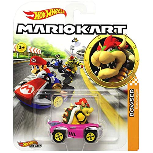 Hot Wheels Bowser Super Mario Kart Character Car Diecast 1:64 Scale (Best Mario Kart Tracks)