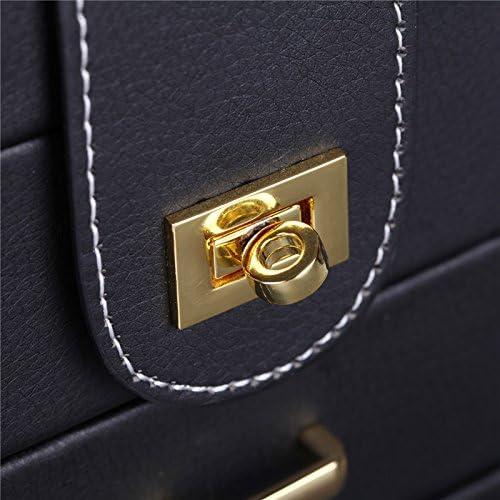 bagues et colliers Grande bo/îte /à bijoux avec accroches pour organiser et pr/ésenter bracelets